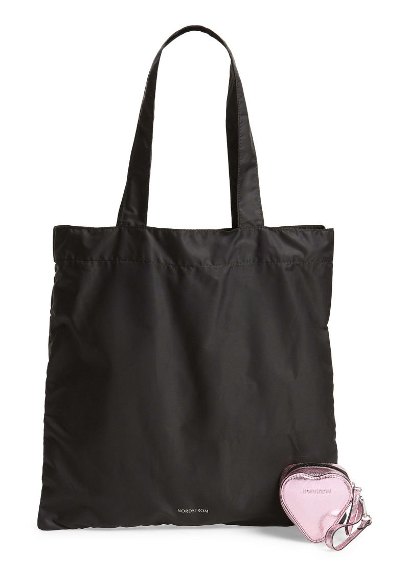 Nordstrom Heart Pouch & Packable Tote Set