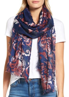 Nordstrom Heirloom Damask Cashmere & Silk Scarf