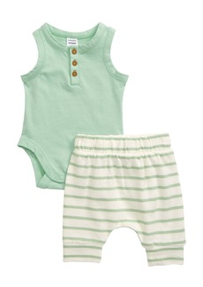 Nordstrom Henley Bodysuit & Pants Set (Baby)