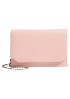 Nordstrom Hunter Saffiano Leather Wallet on a Chain