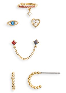 Nordstrom Icon 5-Piece Mismatch Earring Pack