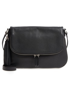 Nordstrom Kara Leather Expandable Crossbody Bag