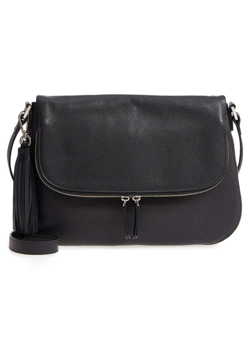 Nordstrom Kara Leather Expandable Crossbody Bag Handbags