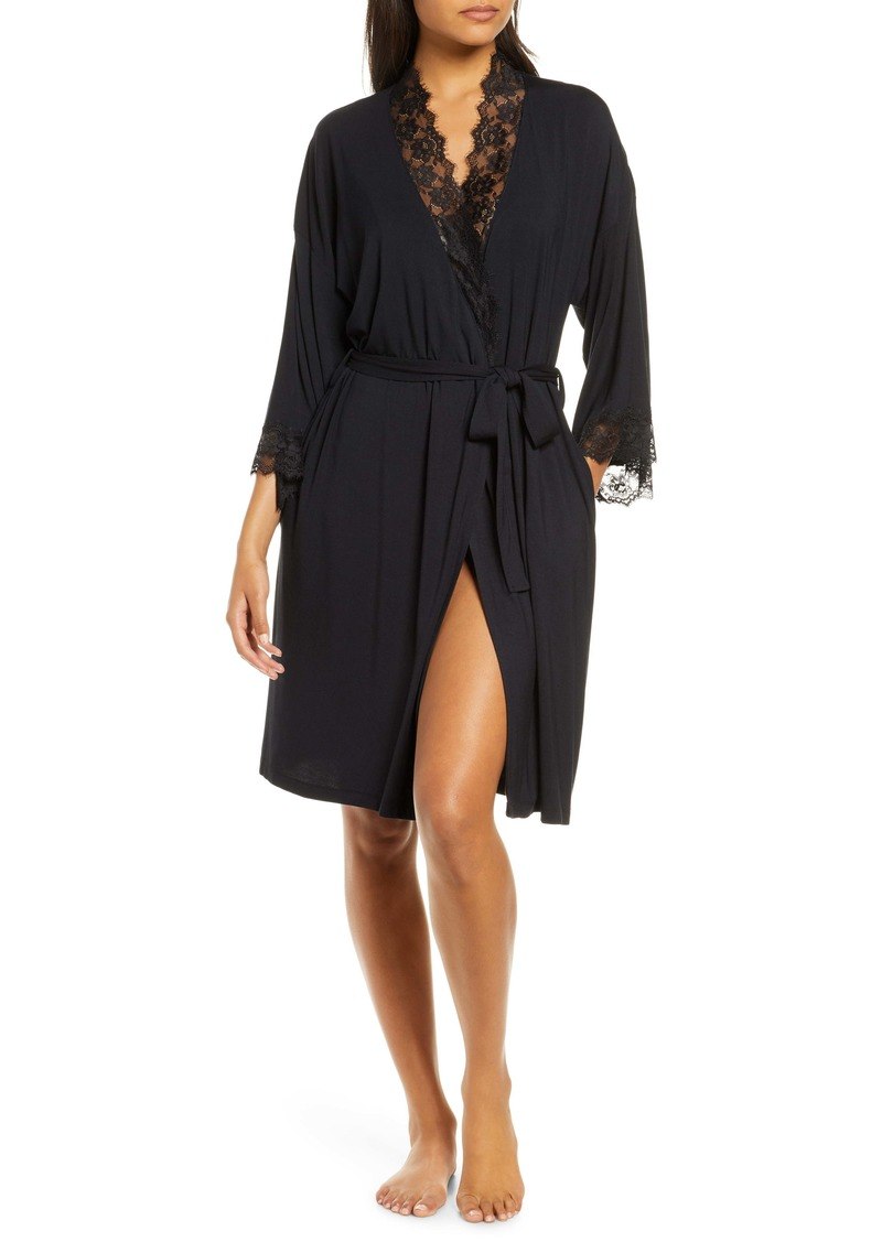 Nordstrom Lace Trim Short Robe