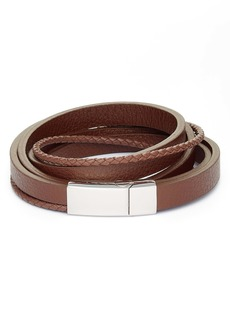 Nordstrom Men's Leather Wrap Bracelet