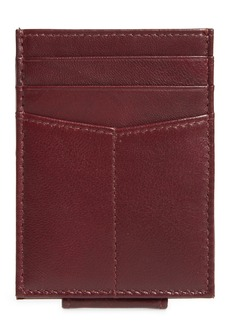 Nordstrom Liam Leather Money Clip Card Case