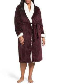 Nordstrom Lingerie Cable Plush Robe (Plus Size)