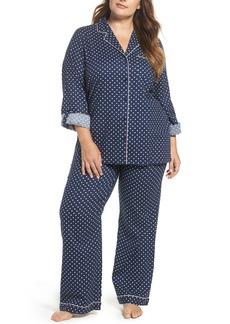 Nordstrom Lingerie Cotton Twill Pajamas (Plus Size)