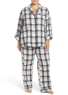 Nordstrom Lingerie Print Cotton Twill Pajamas (Plus Size)