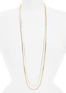 Nordstrom Long Double Strand Necklace