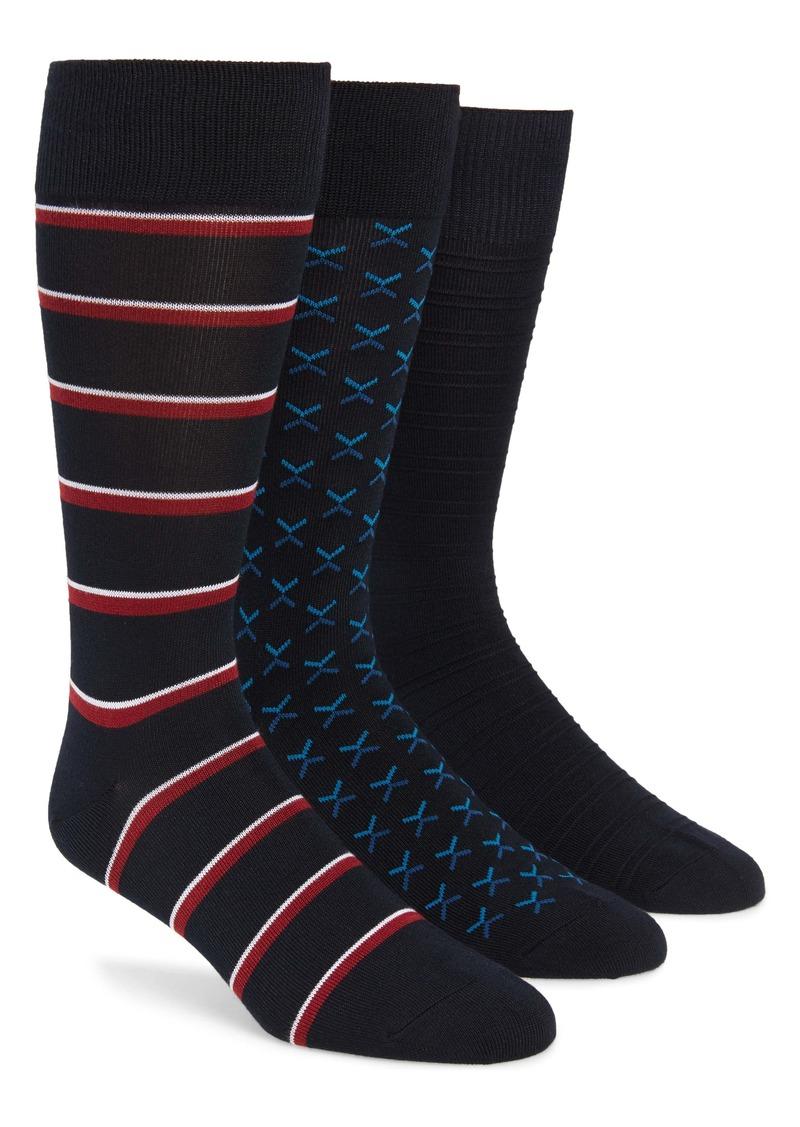 Nordstrom Men's Shop 3-Pack Assorted Socks