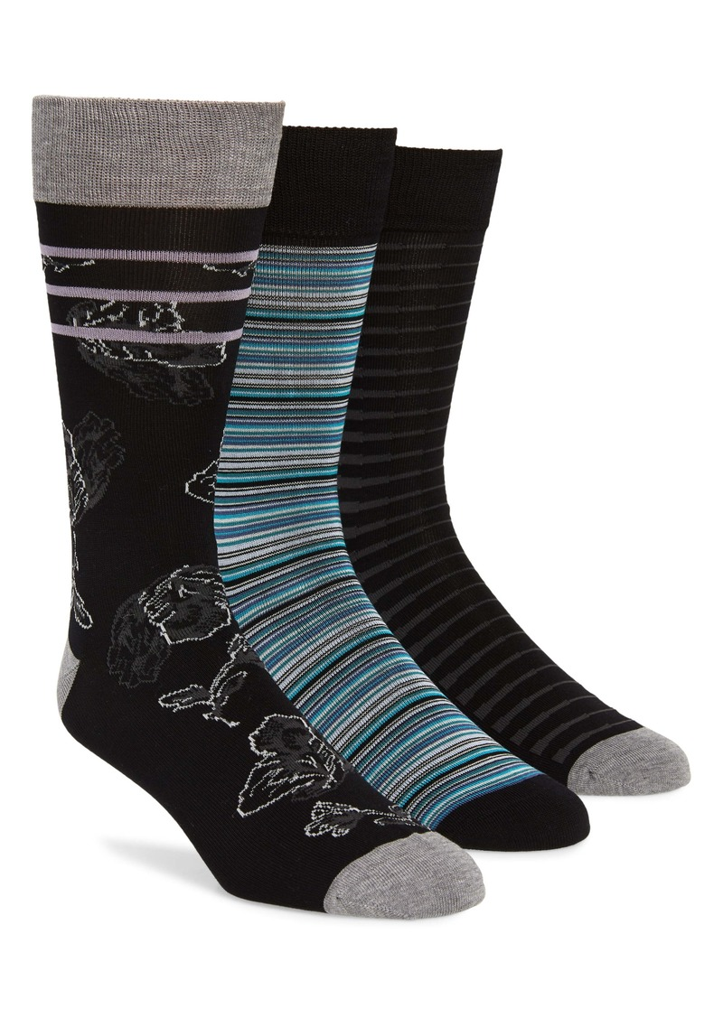 Nordstrom Men's Shop 3-Pack Assorted Socks