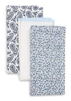 Nordstrom Men's Shop 3-Pack Cotton Pocket Squares