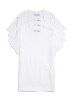 Nordstrom Men's Shop 4-Pack Trim Fit Supima® Cotton V-Neck T-Shirts