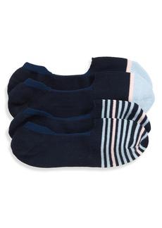 Nordstrom Men's Shop Assorted 2-Pack Loafer Liner Socks (3 for $30)