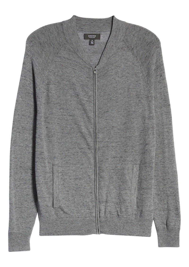 Nordstrom Men's Shop Baseball Zip Cardigan
