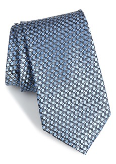 Nordstrom Men's Shop Bassini Geometric Silk Tie (X-Long)