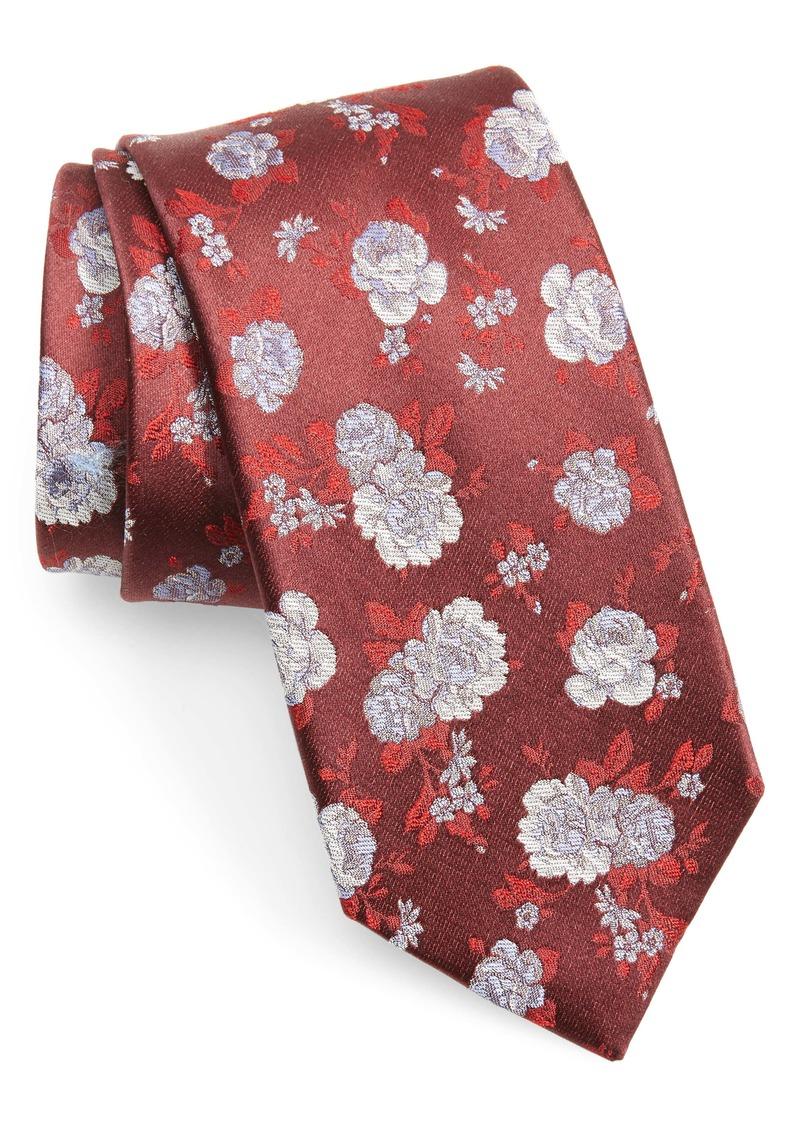 Nordstrom Men's Shop Begley Floral Cotton & Silk Tie