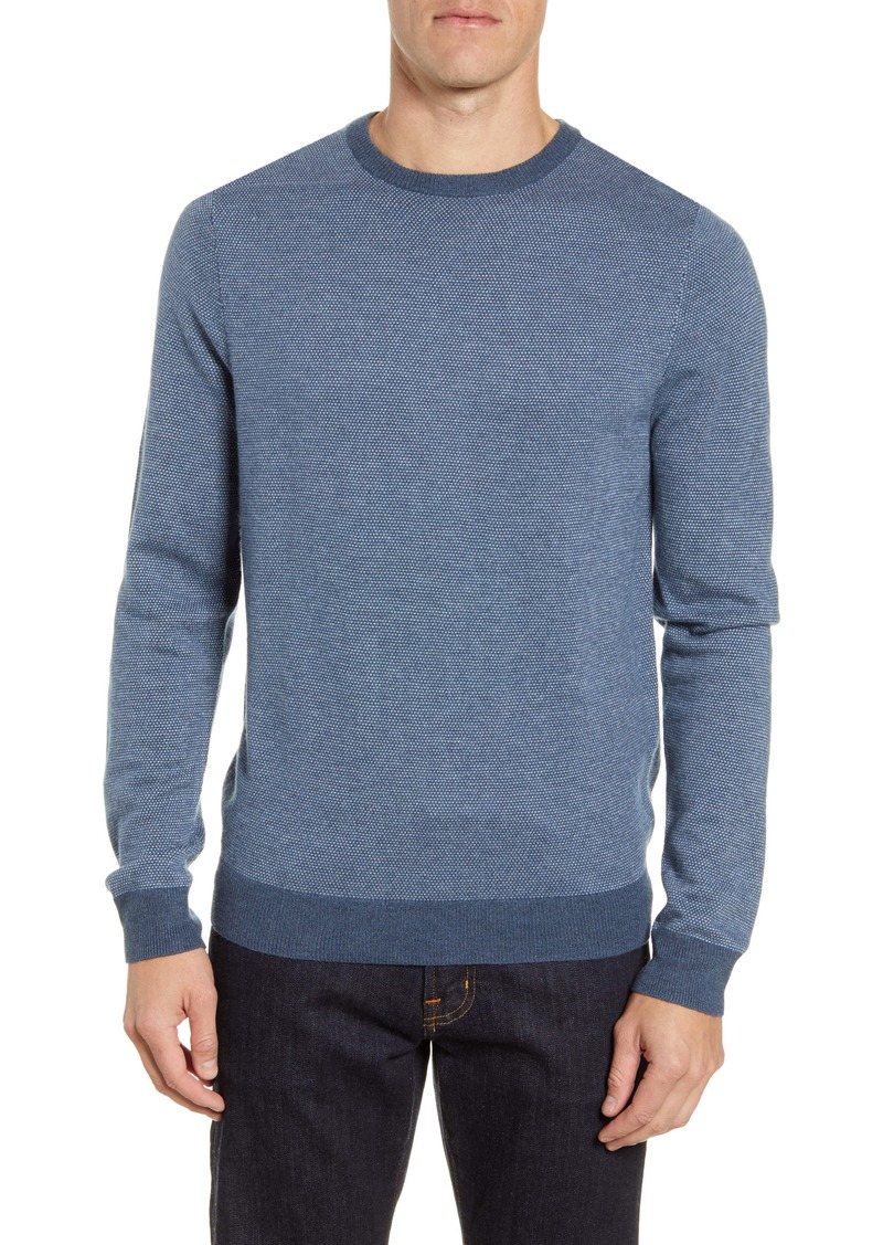 Nordstrom Men's Shop Bird's Eye Crewneck Sweater