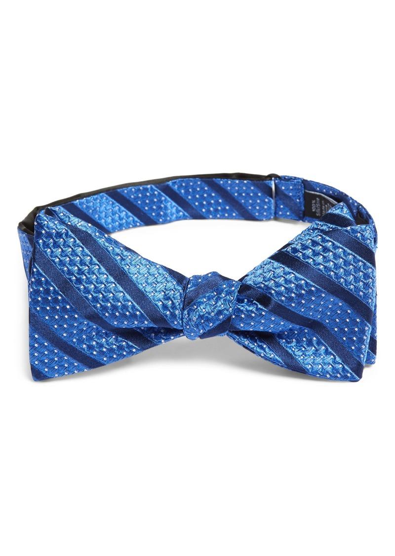 Nordstrom Men's Shop Bower Stripe Silk Bow Tie