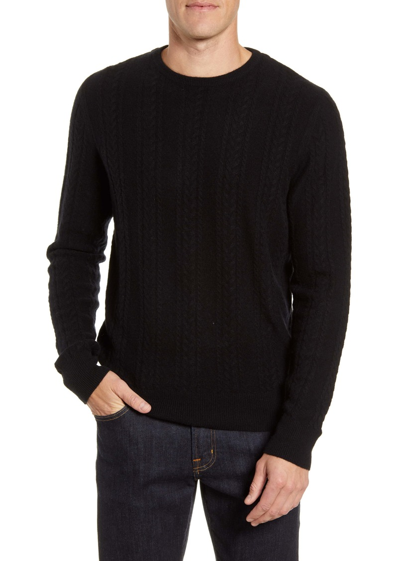 Nordstrom Men's Shop Cable Knit Cashmere Sweater