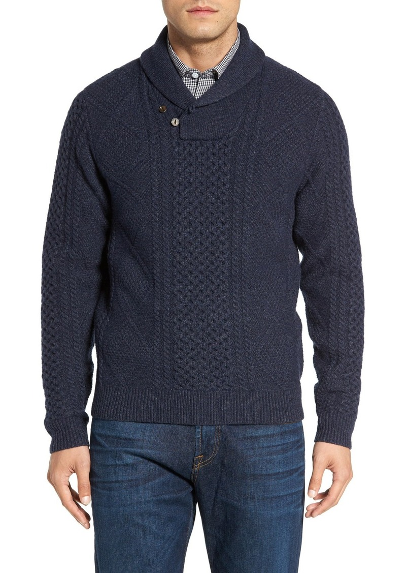 Nordstrom Men's Shop Cable Knit Shawl Collar Sweater