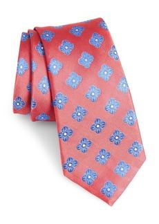 Nordstrom Men's Shop Cameron Floral Medallion Silk Tie (X-Long)
