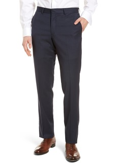 Nordstrom Men's Shop Tech-Smart Check Flat Front Stretch Wool Pants
