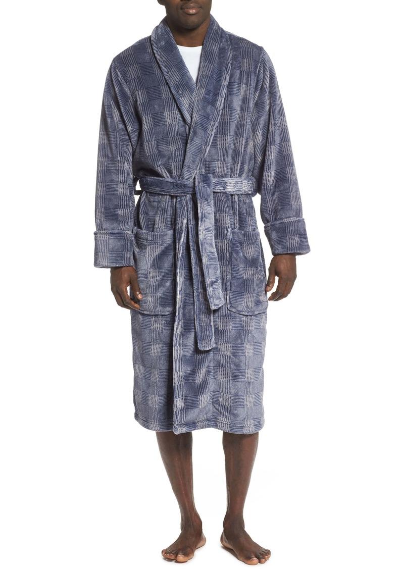 Nordstrom Men's Shop Check Fleece Robe