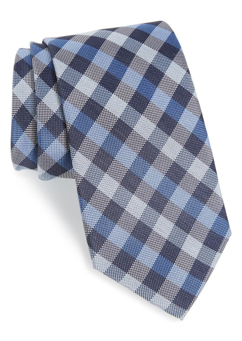 Nordstrom Men's Shop Check Silk & Cotton Tie (X-Long)