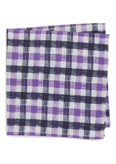 Nordstrom Men's Shop Check Silk Pocket Square