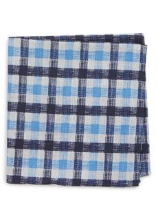 Nordstrom Men's Shop Check Silk Pocket Square