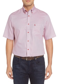 Nordstrom Men's Shop 'Classic' Smartcare™ Regular Fit Short Sleeve Cotton Sport Shirt