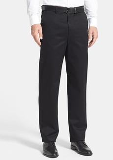 Nordstrom Men's Shop Classic Smartcare™ Relaxed Fit Flat Front Cotton Pants