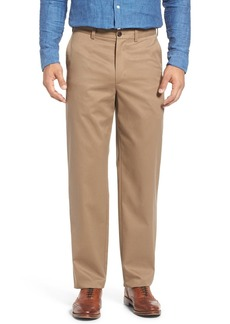 Nordstrom Men's Shop 'Classic' Smartcare™ Relaxed Fit Flat Front Cotton Pants (Online Only)