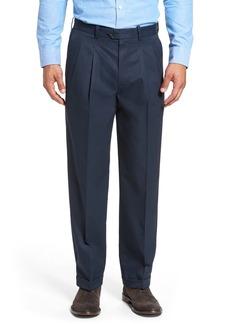 Nordstrom Men's Shop Classic Smartcare™ Pleated Supima® Cotton Dress Pants