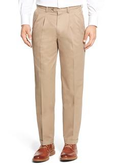 Nordstrom Men's Shop Classic Smartcare™ Supima® Cotton Pleated Dress Pants