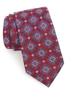 Nordstrom Men's Shop Cleo Medallion Silk X-Long Tie