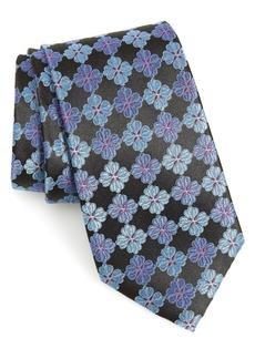 Nordstrom Men's Shop Cole Floral Silk X-Long Tie