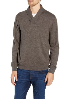 Nordstrom Men's Shop Cotton & Cashmere Shawl Collar Sweater (Regular & Tall)