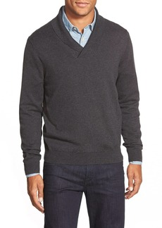 Nordstrom Men's Shop Cotton & Cashmere Shawl Collar Sweater (Regular & Tall)