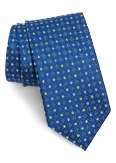 Nordstrom Men's Shop Coventry Grid Silk X-Long Tie