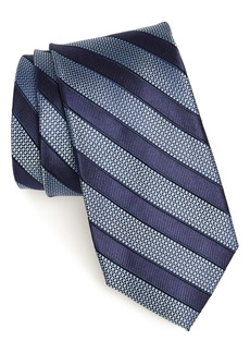 Nordstrom Men's Shop Crawford Stripe Silk & Cotton Tie