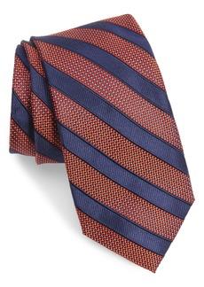 Nordstrom Men's Shop Crawford Stripe Silk & Cotton Tie