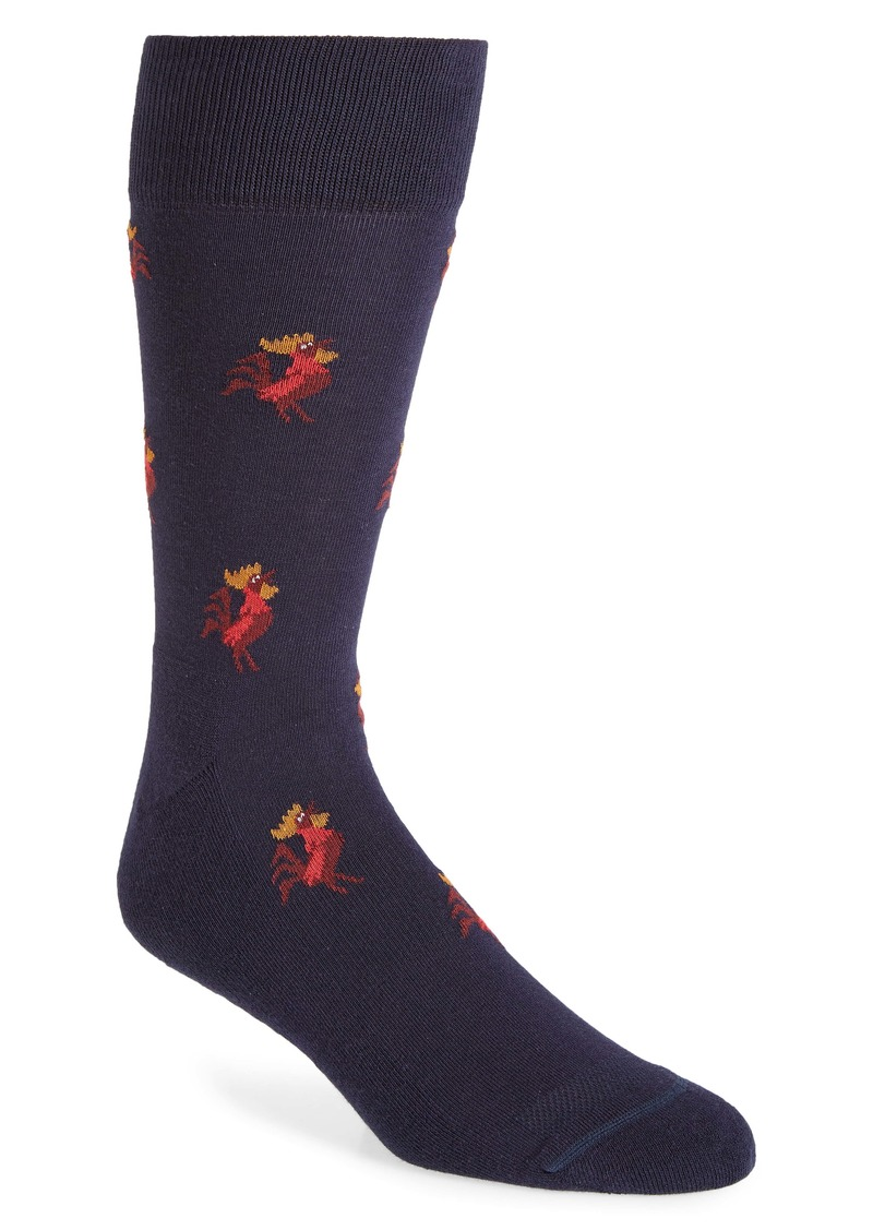 Nordstrom Men's Shop Crowing Rooster Socks (Any 3 for $30)
