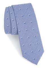 Nordstrom Men's Shop Dobby Solid Cotton Skinny Tie