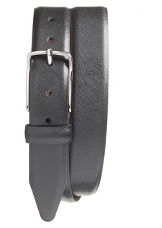 Nordstrom Men's Shop Evans Saffiano Leather Belt