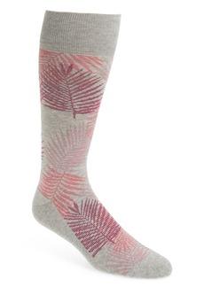 Nordstrom Men's Shop Evening Palm Frond Socks