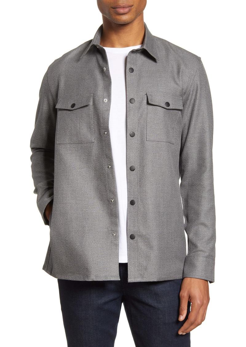 Nordstrom Men's Shop Fleece Shirt Jacket