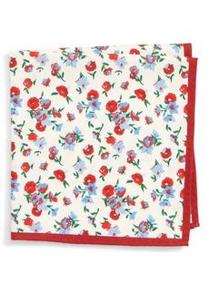 Nordstrom Men's Shop Floral Silk Pocket Square